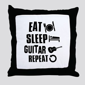 Eat Sleep Guitar Throw Pillow