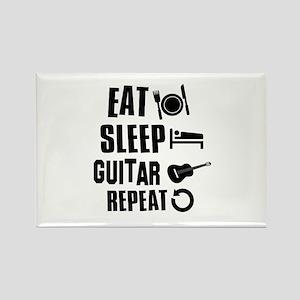 Eat Sleep Guitar Rectangle Magnet