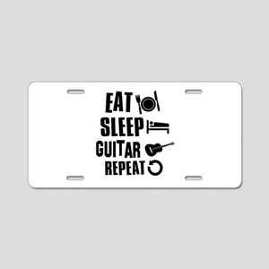 Eat Sleep Guitar Aluminum License Plate