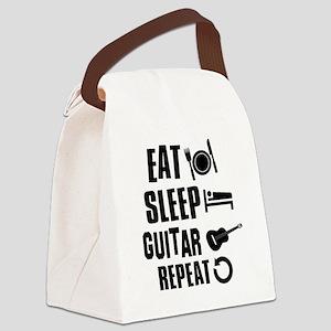 Eat Sleep Guitar Canvas Lunch Bag