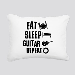 Eat Sleep Guitar Rectangular Canvas Pillow