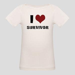 I Love Survivor Organic Baby T-Shirt