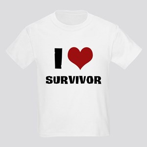 I Love Survivor Kids Light T-Shirt