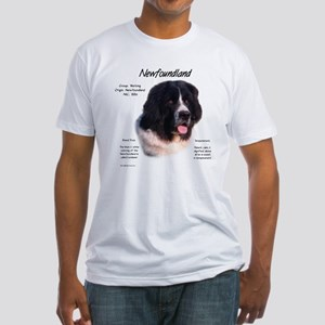 Newf (Landseer) Fitted T-Shirt