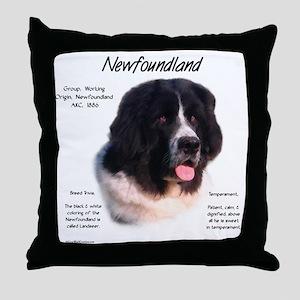 Newf (Landseer) Throw Pillow