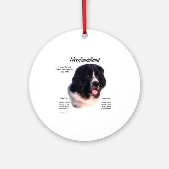 Newf (Landseer) Round Ornament