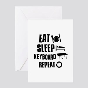 Eat Sleep Keyboard Greeting Card