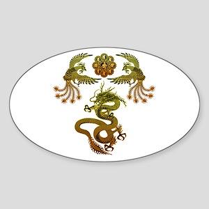 Houou Ryuu Sticker (Oval)