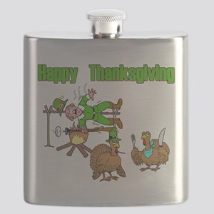 Funny Thanksgiving Flask