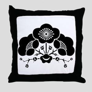 change flower ume Throw Pillow
