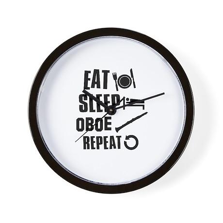 Eat Sleep Oboe Wall Clock