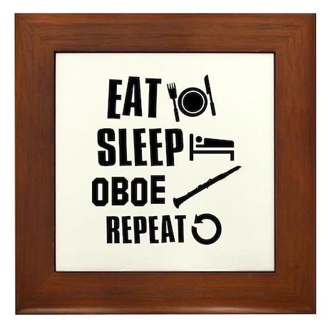 Eat Sleep Oboe Framed Tile