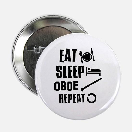 """Eat Sleep Oboe 2.25"""" Button"""