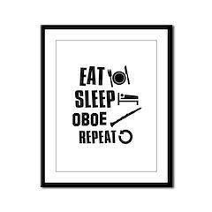 Eat Sleep Oboe Framed Panel Print