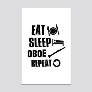 Eat Sleep Oboe Mini Poster Print