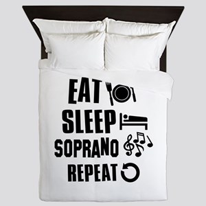 Eat Sleep Soprano Queen Duvet