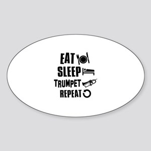 Eat Sleep Trumpet Sticker (Oval)
