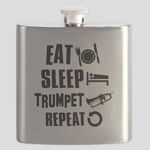Eat Sleep Trumpet Flask