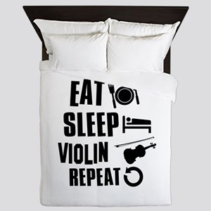 Eat Sleep Violin Queen Duvet