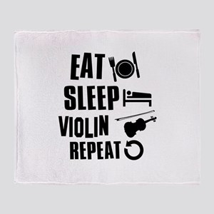 Eat Sleep Violin Throw Blanket