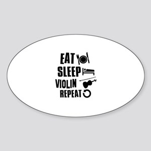 Eat Sleep Violin Sticker (Oval)
