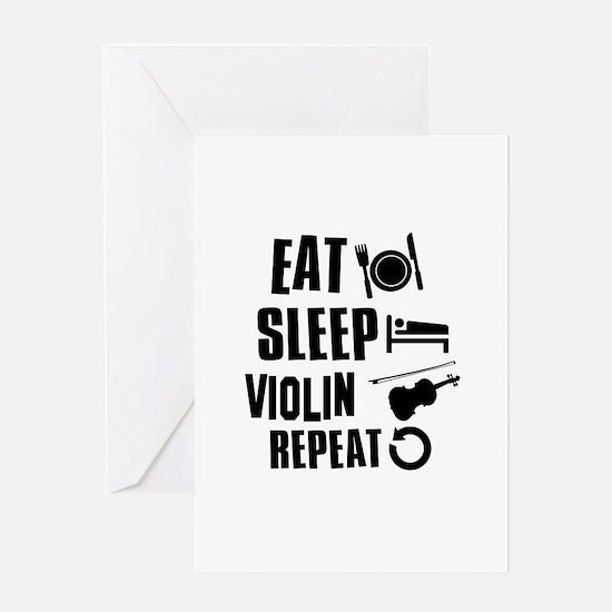 Eat Sleep Violin Greeting Card