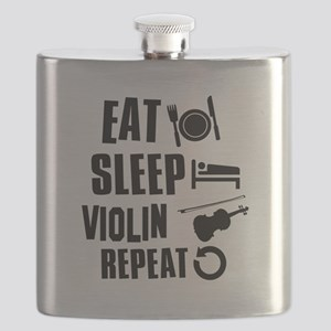 Eat Sleep Violin Flask