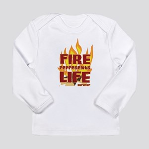 Fire Represents Life Long Sleeve Infant T-Shirt
