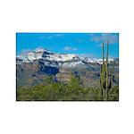 Superstition Peak Snow Rectangle Magnet (100 pack)