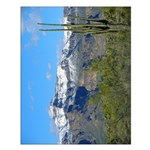 Superstition Peak Snow Small Poster