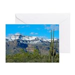 Superstition Peak Snow Greeting Card