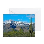 Superstition Peak Snow Greeting Cards (pk Of 10)