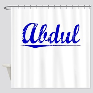 Abdul, Blue, Aged Shower Curtain