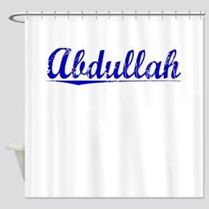 Abdullah, Blue, Aged Shower Curtain