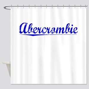 Abercrombie, Blue, Aged Shower Curtain