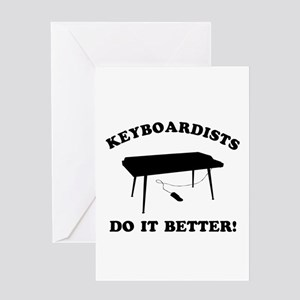 Cool Keyboardists Designs Greeting Card