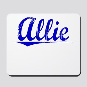 Allie, Blue, Aged Mousepad