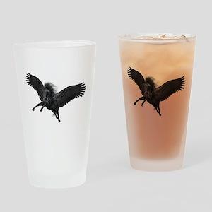 Black Pegasus Drinking Glass