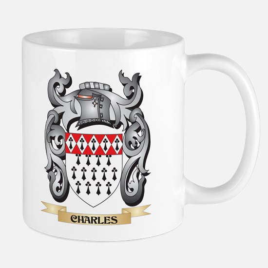 Charles Family Crest - Charles Coat of Arms Mugs