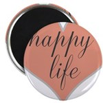happy life Magnets