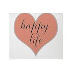 happy life Throw Blanket