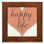 happy life Framed Tile