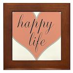 happy life Framed Tile