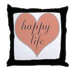 happy life Throw Pillow