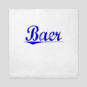 Baer, Blue, Aged Queen Duvet