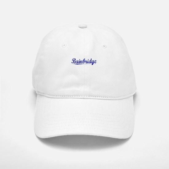 Bainbridge, Blue, Aged Baseball Baseball Cap