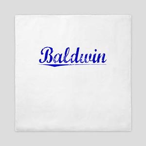 Baldwin, Blue, Aged Queen Duvet