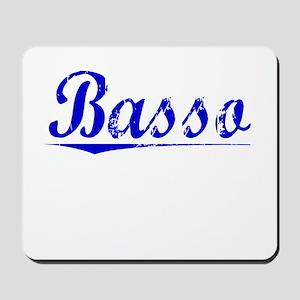Basso, Blue, Aged Mousepad