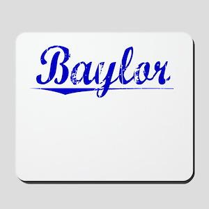 Baylor, Blue, Aged Mousepad