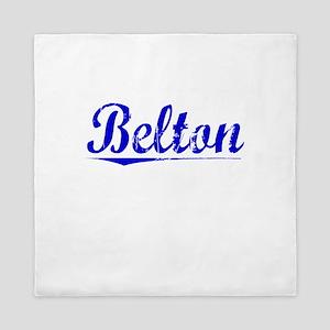Belton, Blue, Aged Queen Duvet